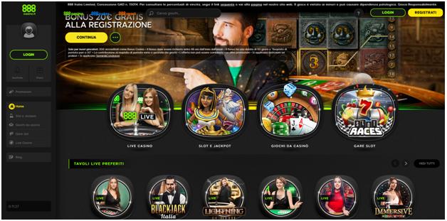 888 casino italia