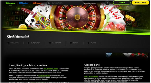 888 Casino offre la migliore esperienza di gioco