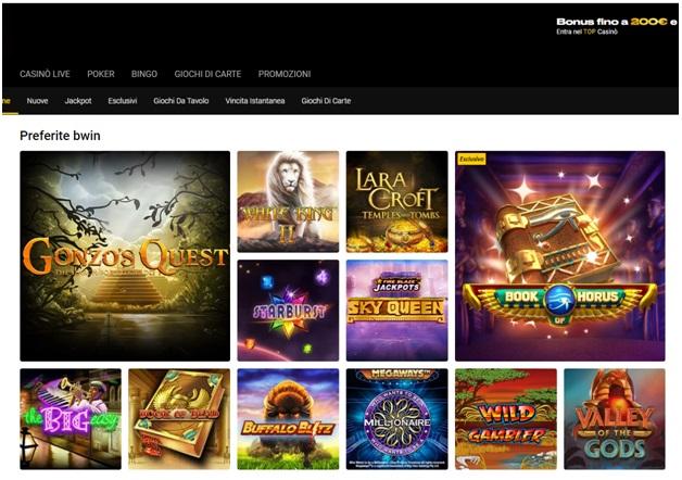 Bwin Casino Games per giocare