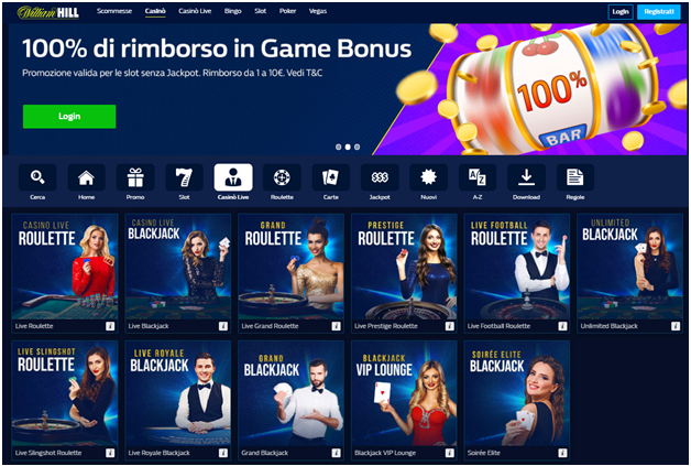 Giochi di William Hill Casino