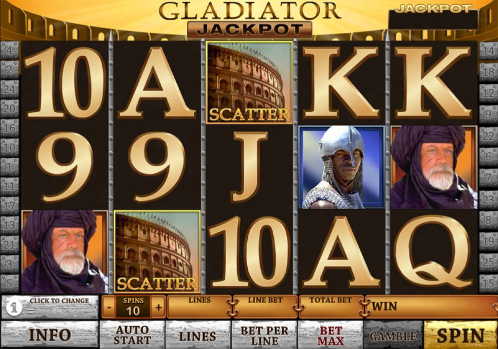 gladiator slot soldi veri android