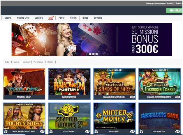 La maggior parte dei giochi su slot SNAI è fornita da Playtech