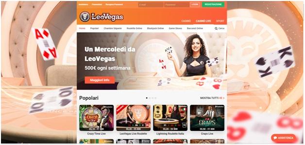 Leo Vegas Chambre Separee e Game Show Per Giocare e Vincere