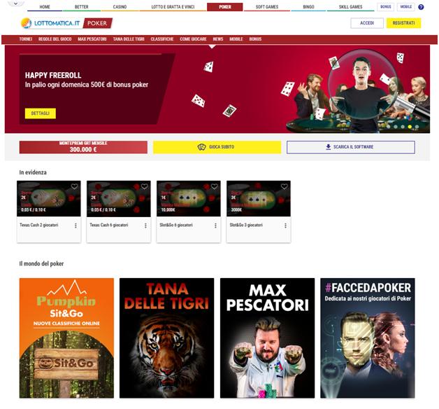 Nel mondo dei giochi online di Lottomatica puoi trovare il Poker online