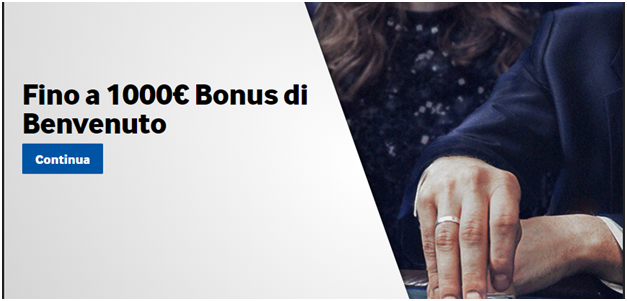 Fino a 1000€ Bonus di Benvenuto & oltre 150 giochi