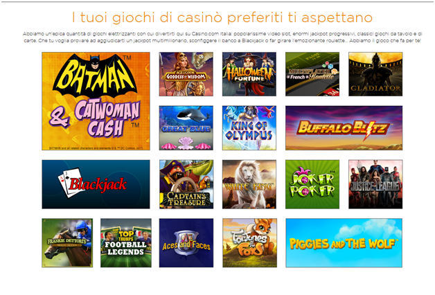 casino.com- Giochi da divertire