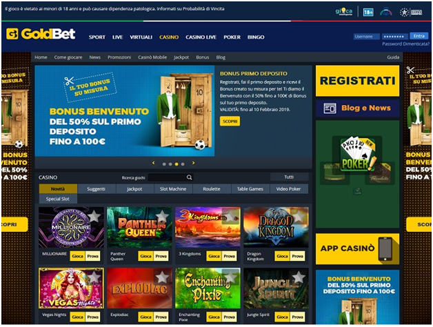 Goldbet casino Italia