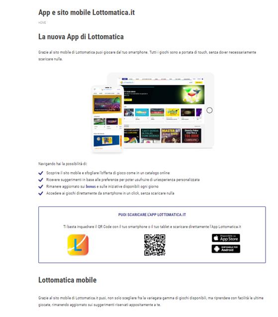 il casinò Lottomatica mobile e con l'app