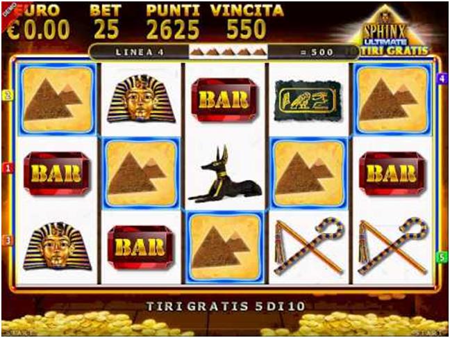 slot machine gratis da bar sphinx gioco